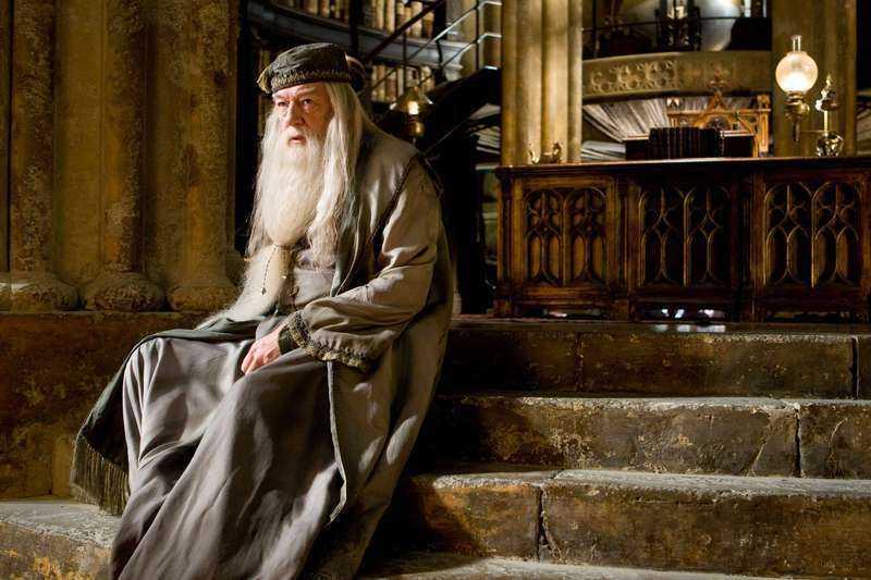 """Dumbledore, som vi är vana vid att se honom, i filmerna om """"Harry Potter""""."""