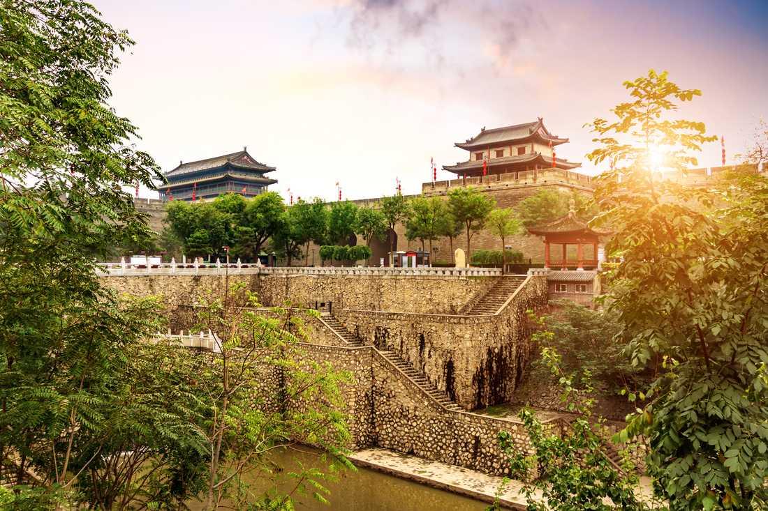 Xi'an är känd för Terrakottaarmén och dem gamla stadsmuren.