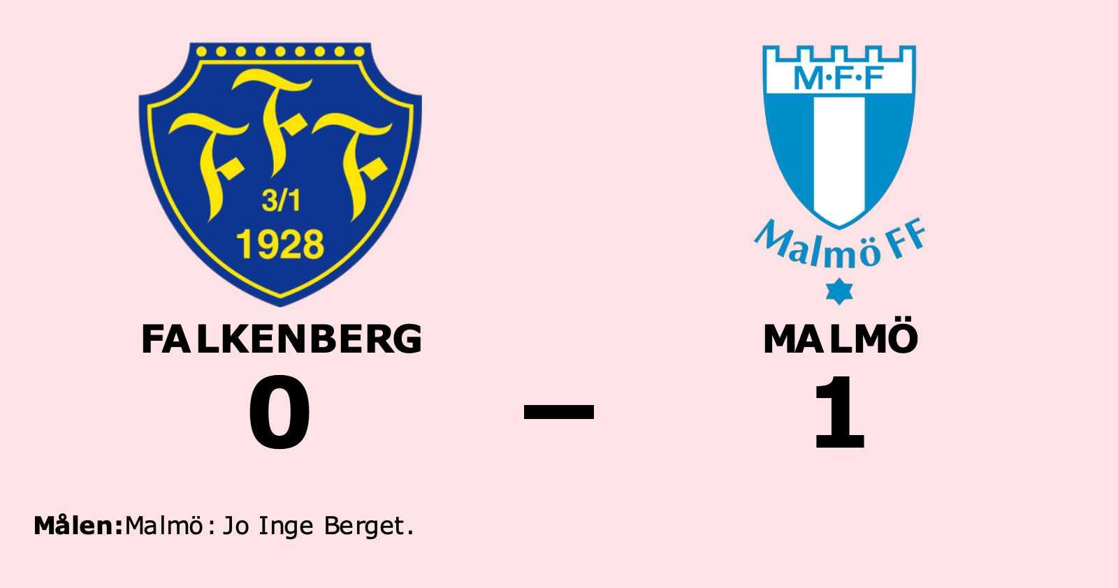 Jo Inge Berget målskytt när Malmö sänkte Falkenberg