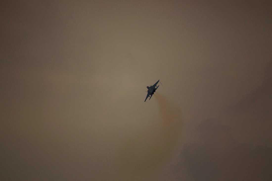 Ett israeliskt stridsflygplan. Arkivbild.
