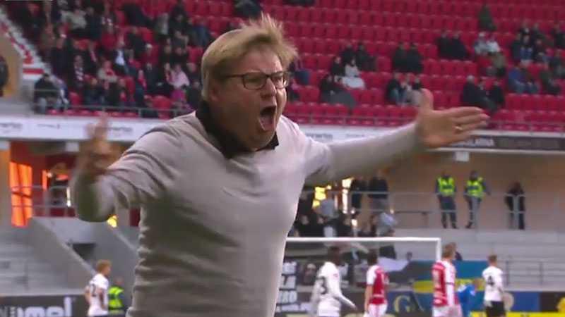 Peter Swärdh var rasande på domaren efter en utebliven straff mot Örebro.