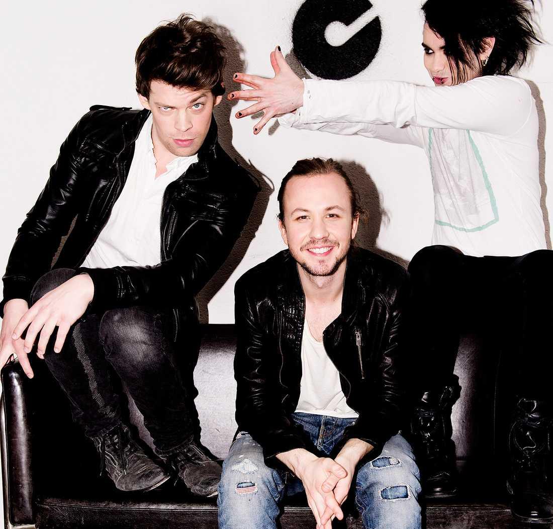 """Jona, Anton och Henrik i """"Dirty Loops""""."""
