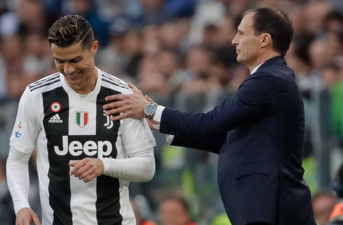 Allegri och Ronaldo.