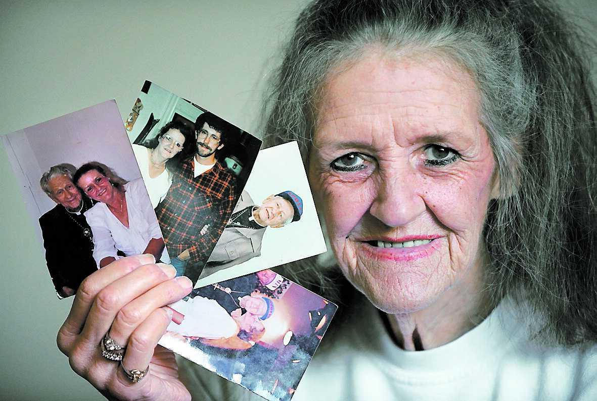 """minnen Det har det inte bara varit frid och fröjd i Linda Wolfes 23 äktenskap. Några män har slagit henne och andra bedragit henne. """"Men jag gav aldrig igen"""", säger hon."""