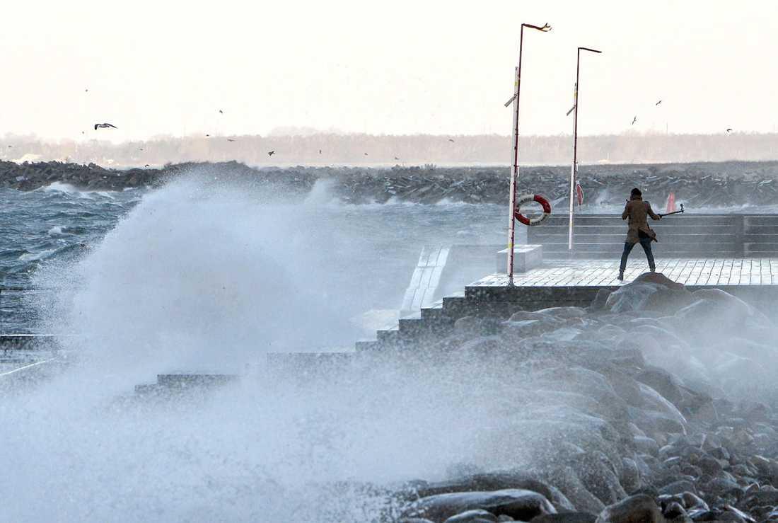 Vindarna kommer öka under dagen när stormen Knud drar in över landet.