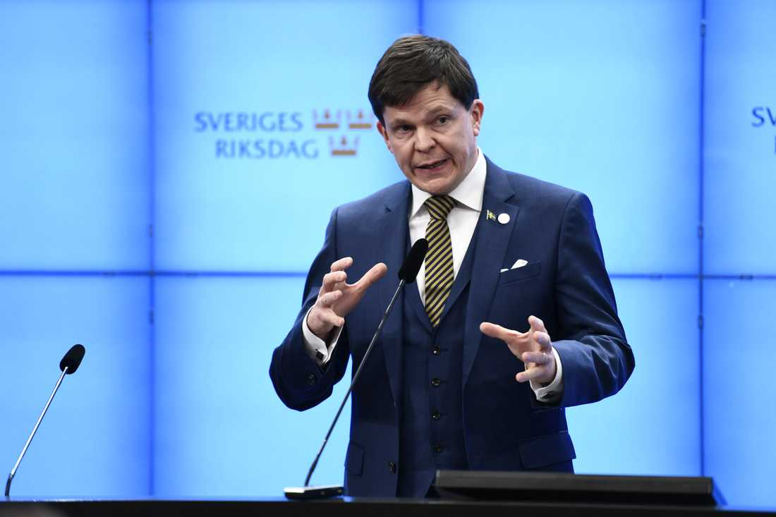 Talmannen Andreas Norlén.