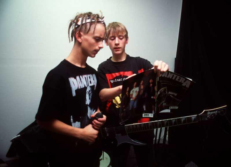 Oliver Loftéen och Martin Andersson i bandet Parias, 1995.