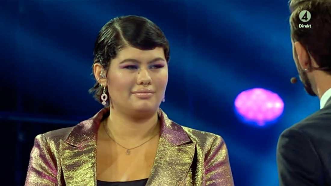 """Maya Arctaedius röstades ut ur """"Idol""""."""