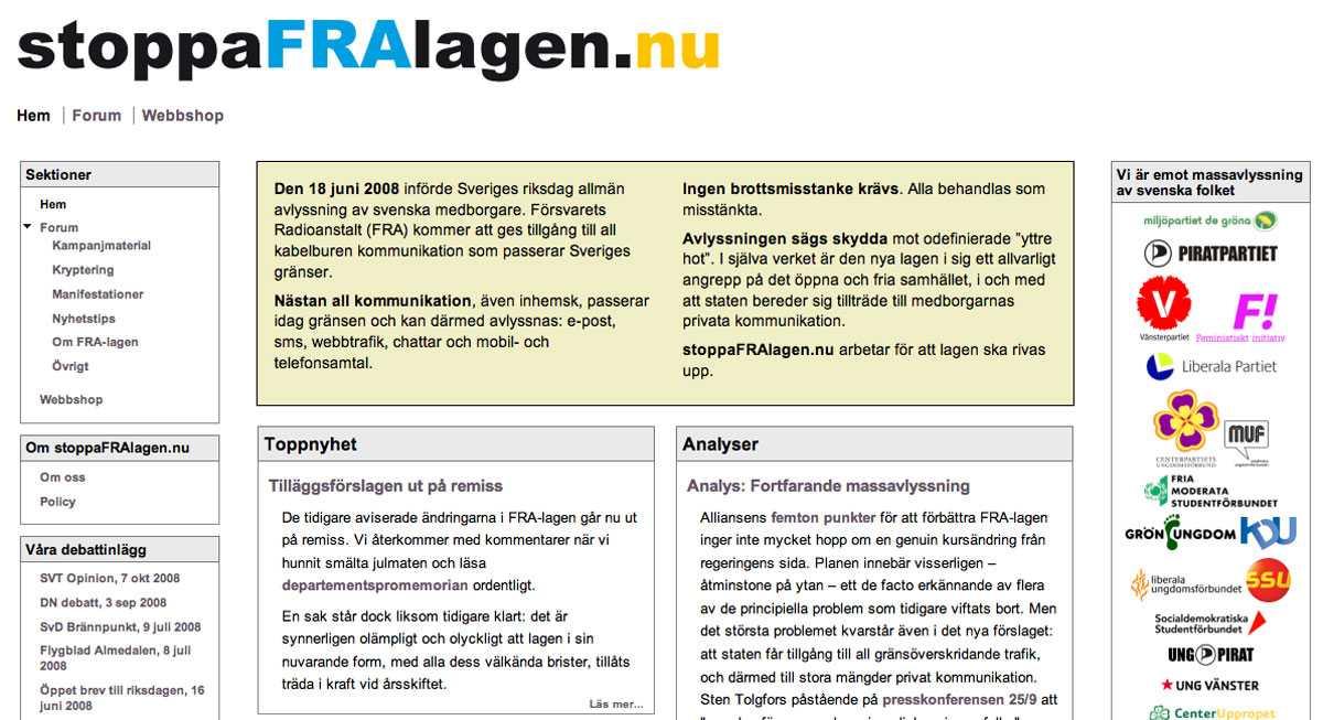 Prisad sajt www.stoppaFRAlagen.nu tilldelas Aftonbladets hederspris.