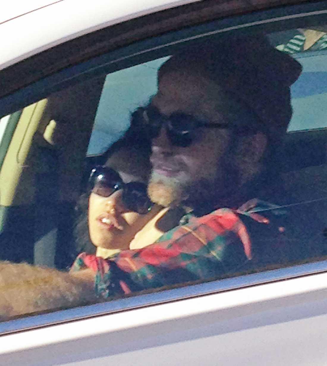 """Tahliah """"FKA Twigs"""" Barnett och Robert Pattinson fångades på bild i Hollywood."""