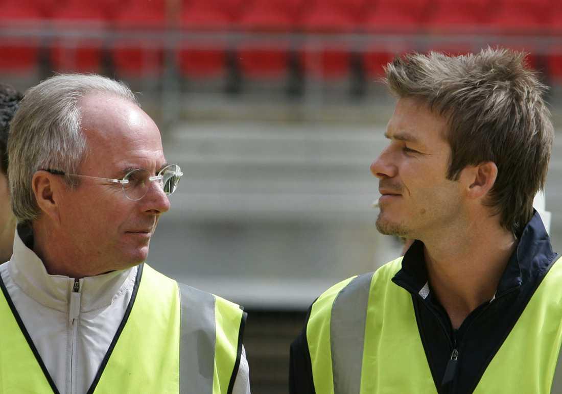 Tillsammans med Sven-Göran Eriksson i maj 2006.