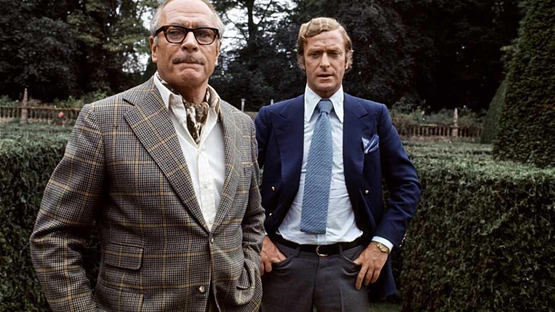"""Laurence Olivier och Michael Caine i """"Sleuth – spårhunden"""" (1972)."""