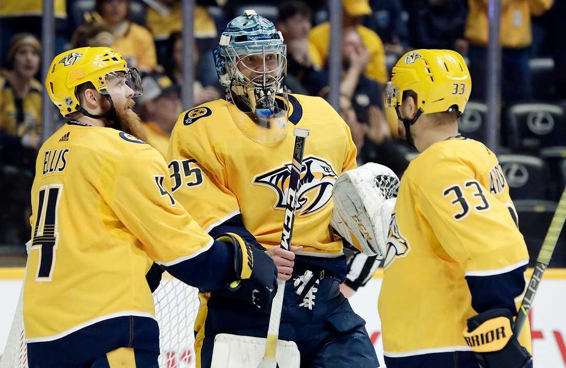 Pekka Rinne storspelade i målet