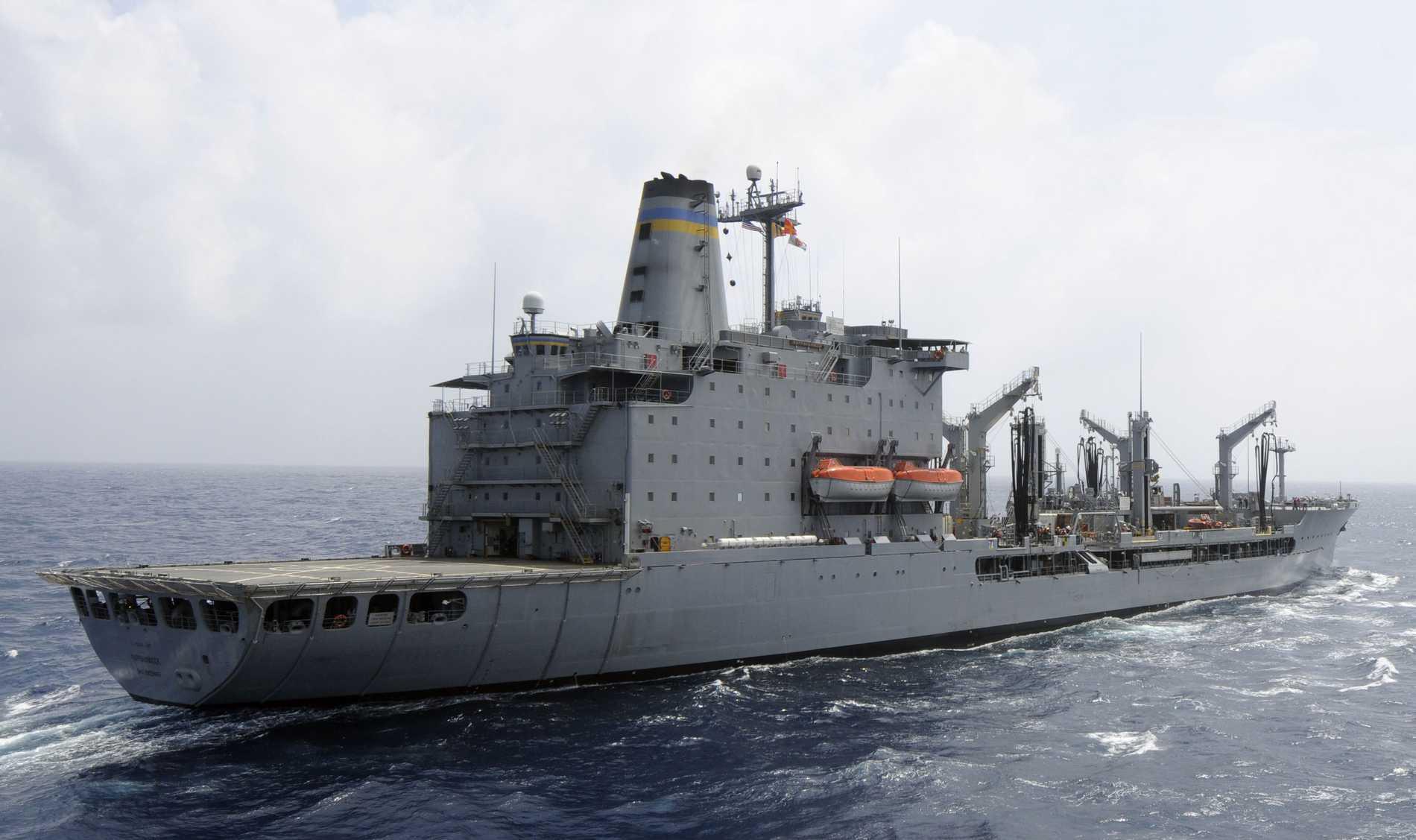 Det amerikanska stridsfartyget USS Rappahannock.