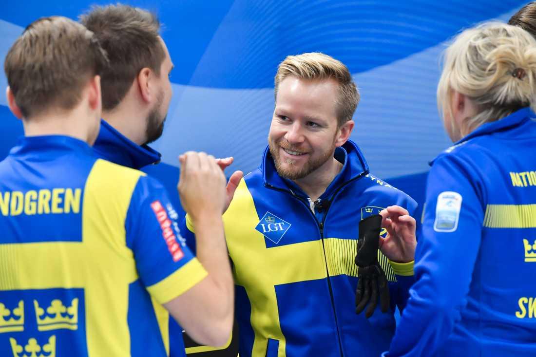 Sverige vinner EM-guld 2019 med Niklas Edin, Oskar Eriksson, Rasmus Wranå och Christoffer Sundgren i lag Edin.