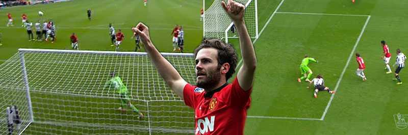 Mata gjorde två vackra mål för United.