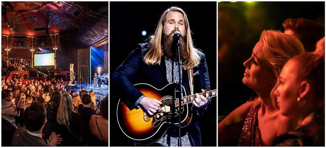"""Chris Kläfford sjöng Bowies """"Heroes"""" när Svenska Hjältars tv-sända gala startade."""