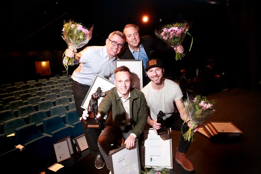 Aftonbladets vinnare! Anders Deros, Andreas Bardell, Pontus Orre och Magnus Wennman.