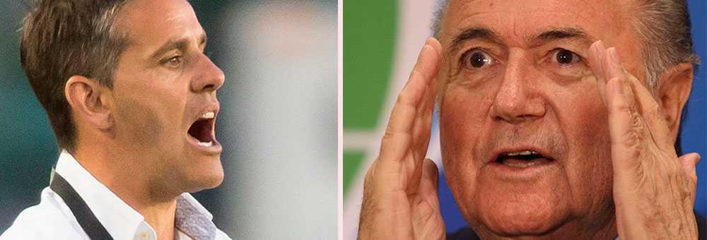 John Herdman och Sepp Blatter