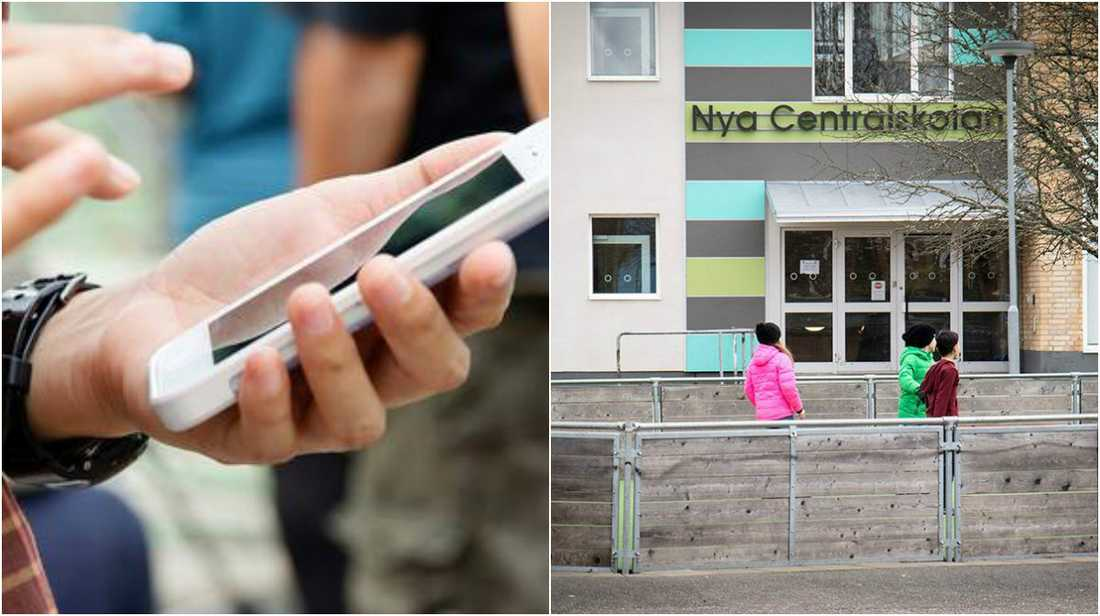 Förbudet mot mobiler på Nya Centralskolan i Grästorp kommer att börja gälla efter sportlovet.