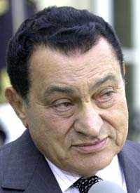 Egyptens president Hosni Mubarak.