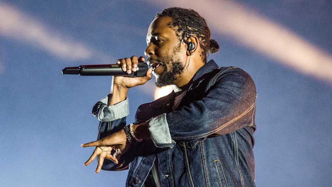 Kendrick Lamar (arkivbild pga fotoförbud i Globen).