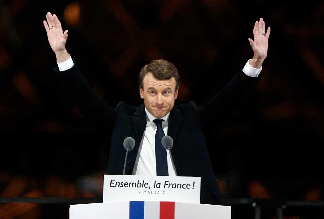 Macron valdes till Frankrikes president den 7maj.