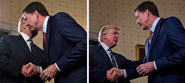 Donald Trump och James Comey.