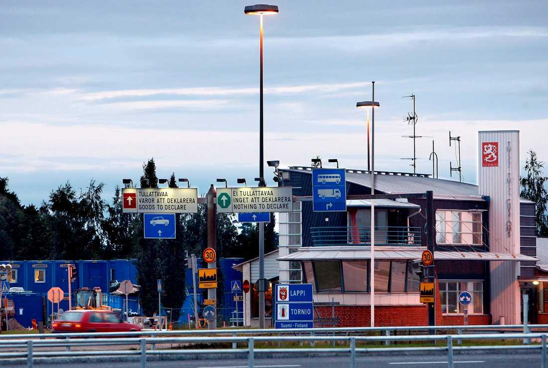 Finska gränskontrollen.