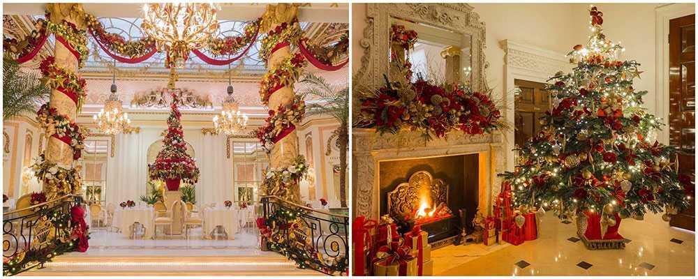 The Ritz i London fyller hotellet med julpynt och god mat.
