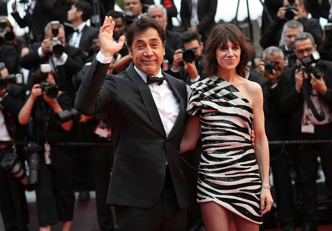 Javier Bardem och Charlotte Gainsbourg i Cannes.