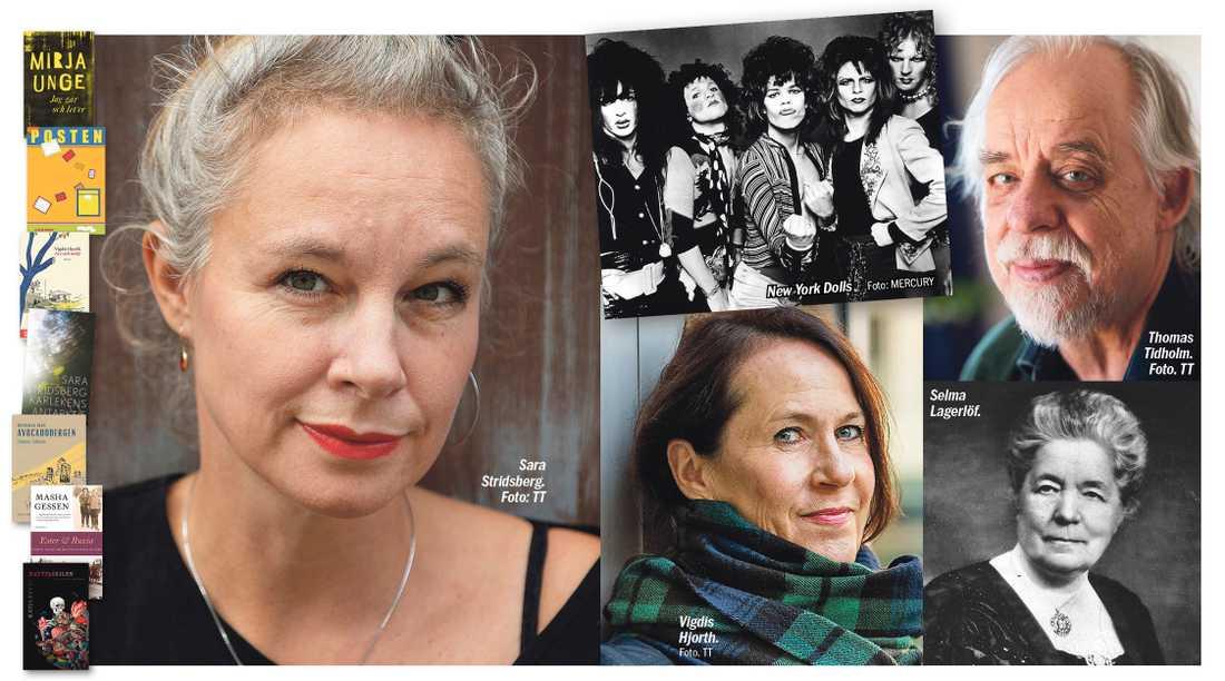 Aftonbladets kritiker tipsar om att lägga Sara Stridsberg, New York Dolls, Vigdis Hjorth, Thomas Tidholm, Selma Lagerlöf med flera i julklappssäcken.