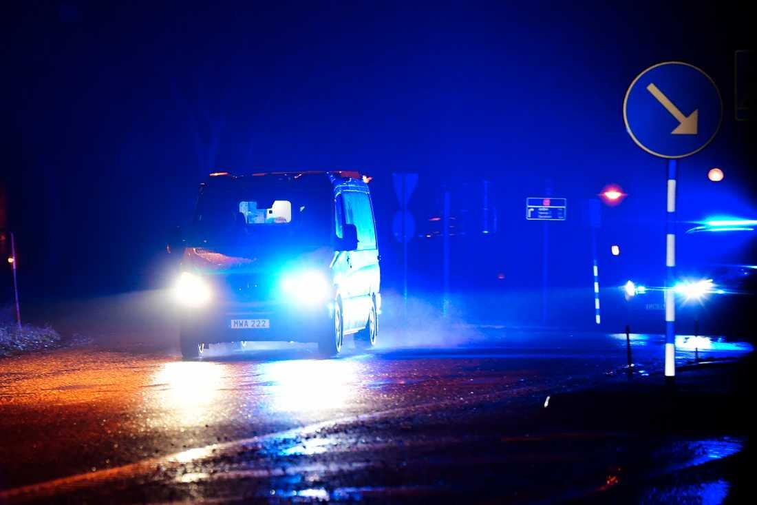 Larmet kom till polisen vid 21.54 på lördagskvällen via ett vaktbolag.
