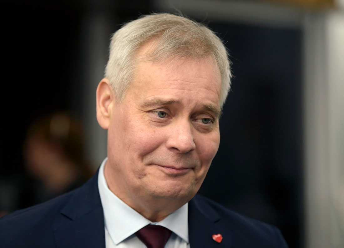 Finlands tillträdande statsminister, socialdemokraten Antti Rinne. Arkivbild.