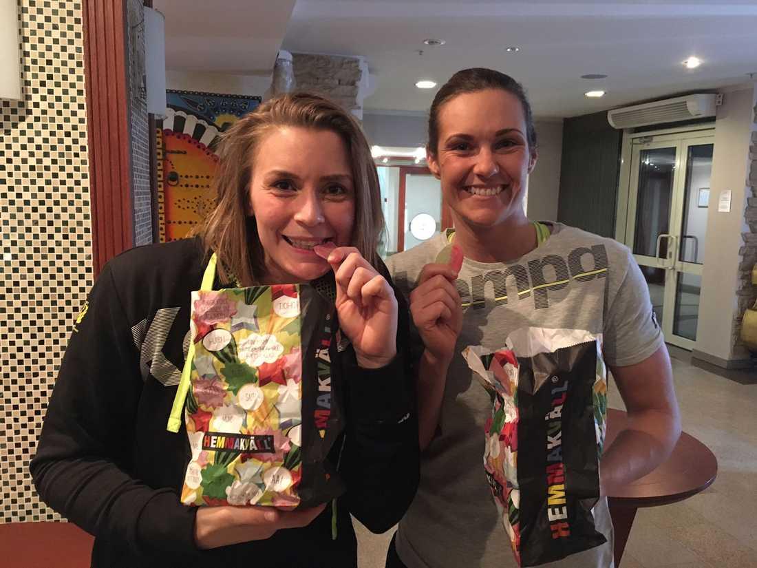 Isabelle Gulldén och Sabina Jacobsen fick smaka på segerns sötma.