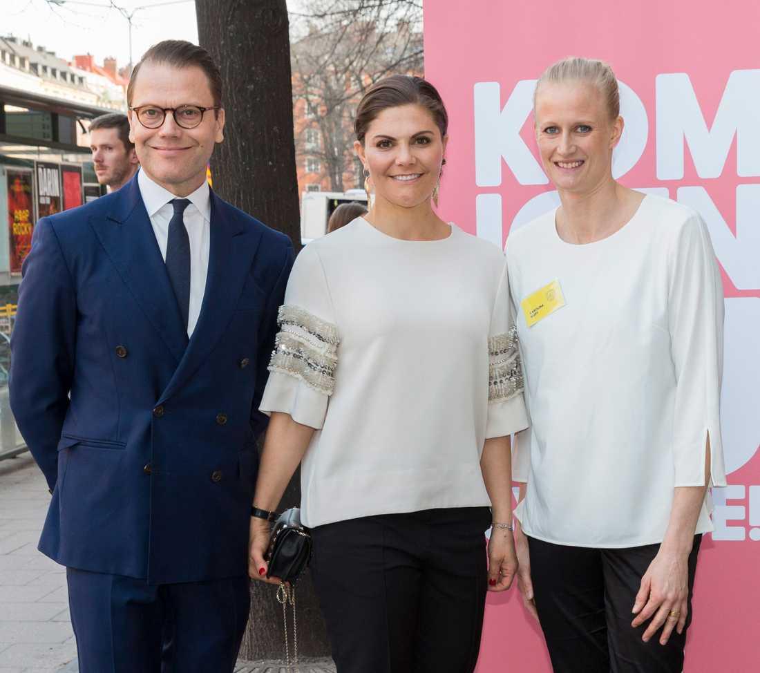 Prins Daniel och kronprinsessan Victoria är initiativtagare till Generation pep där Carolina Klüft är verksamhetschef.