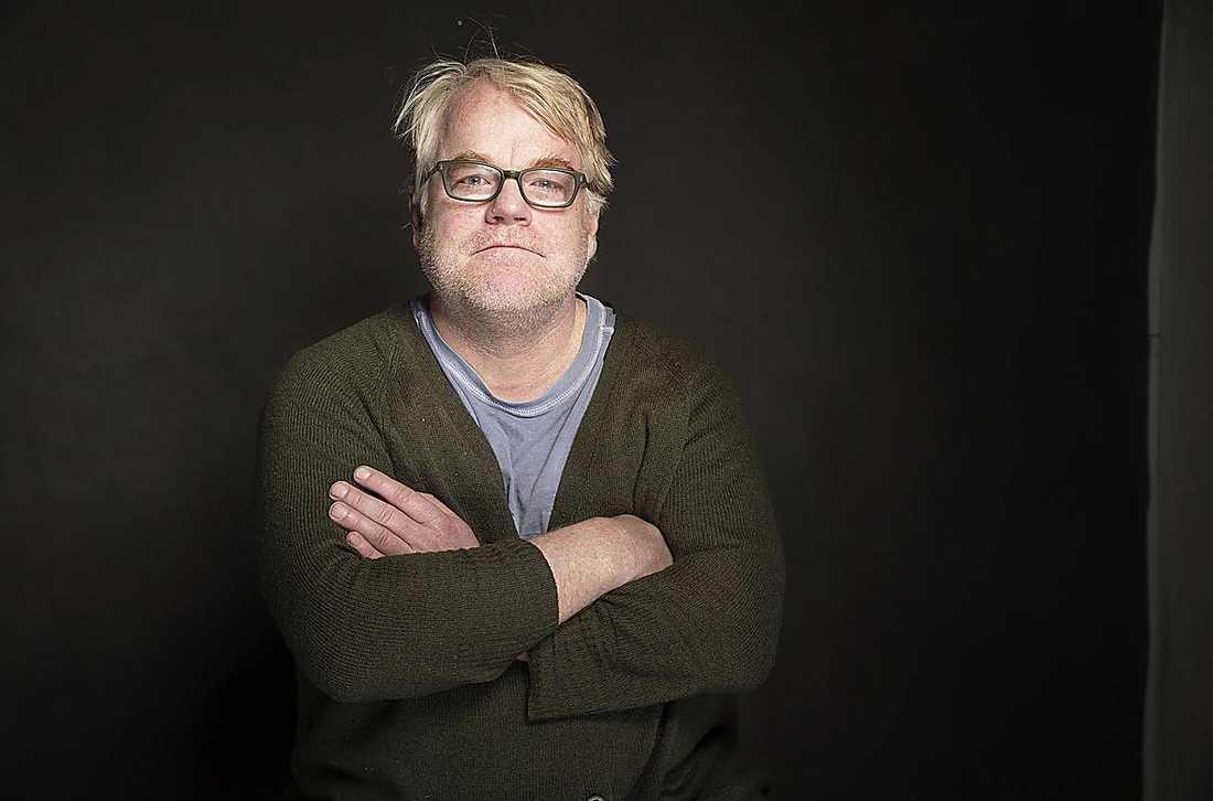 Philip Seymour Hoffman på Sundance filmfestival i amerikanska Park City för bara två veckor sedan.