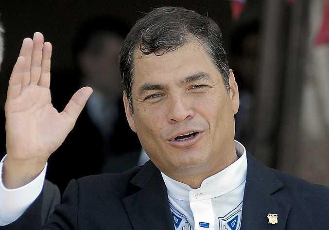 Ecuadors president Rafael Correa.