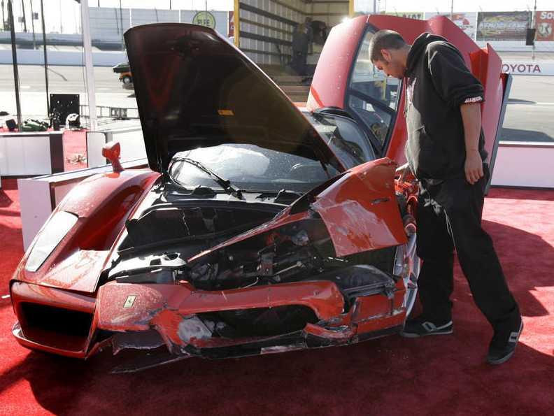Ferrari Enzo - så som skådespelaren Eddie Griffin lämnade den.