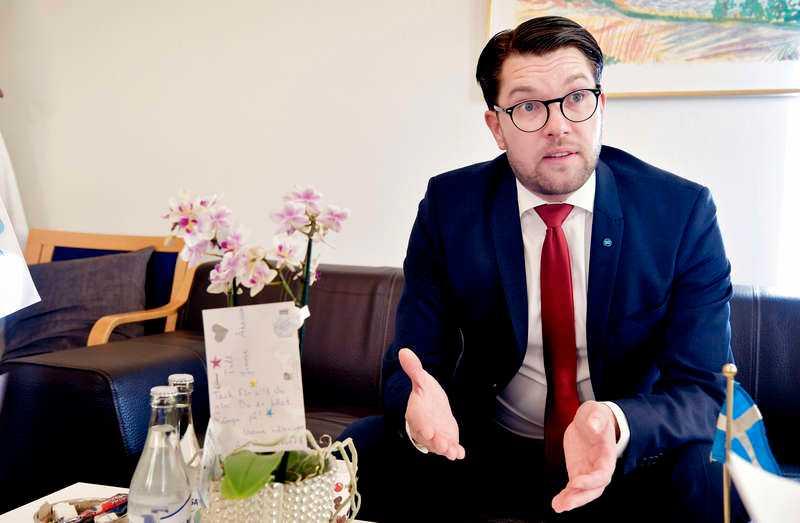 SD-ledaren Jimmie Åkesson