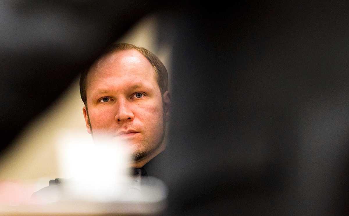 Anders Behring Breivik i rätten i dag.
