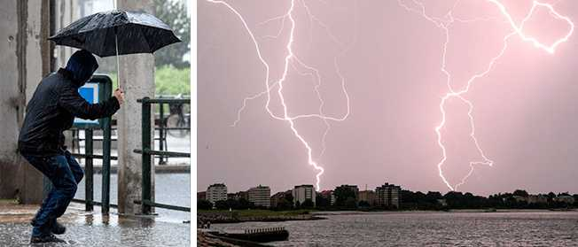 """Regn, blåst och åska: """"Ostadigt hela veckan"""""""