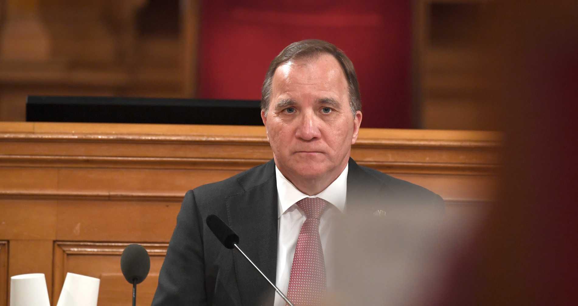 Statsminister Stefan Löfven – måndagens stora förlorare.