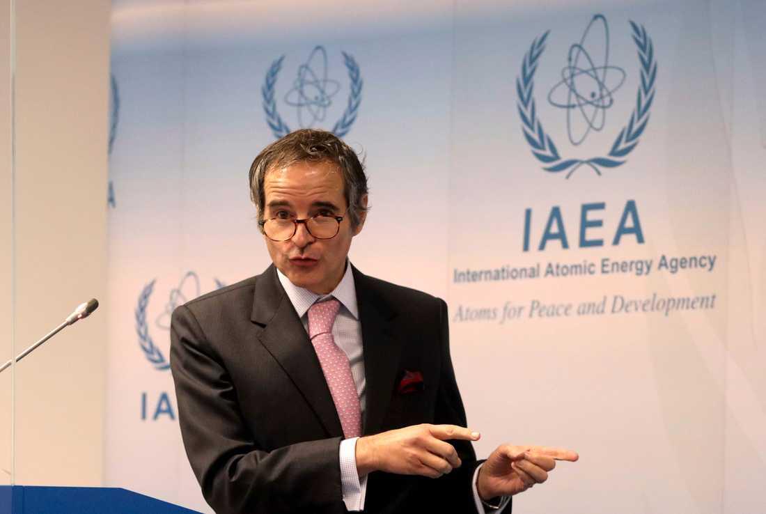 Internationella atomenergiorganet IAEA:s chef Rafael Grossi har bokat in möten med Iran. Arkivbild.