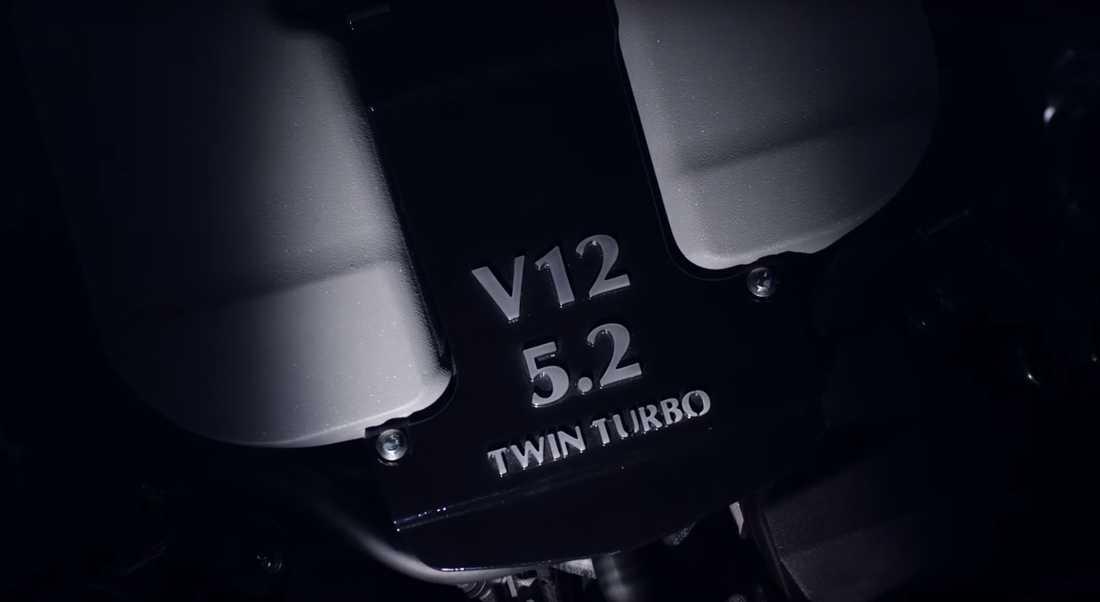 Den brittiska lyxbilstillverkaren har avslöjat att de kommer att sätta i en 5,2-liters V12:a med dubbelturbo i nya DB11.