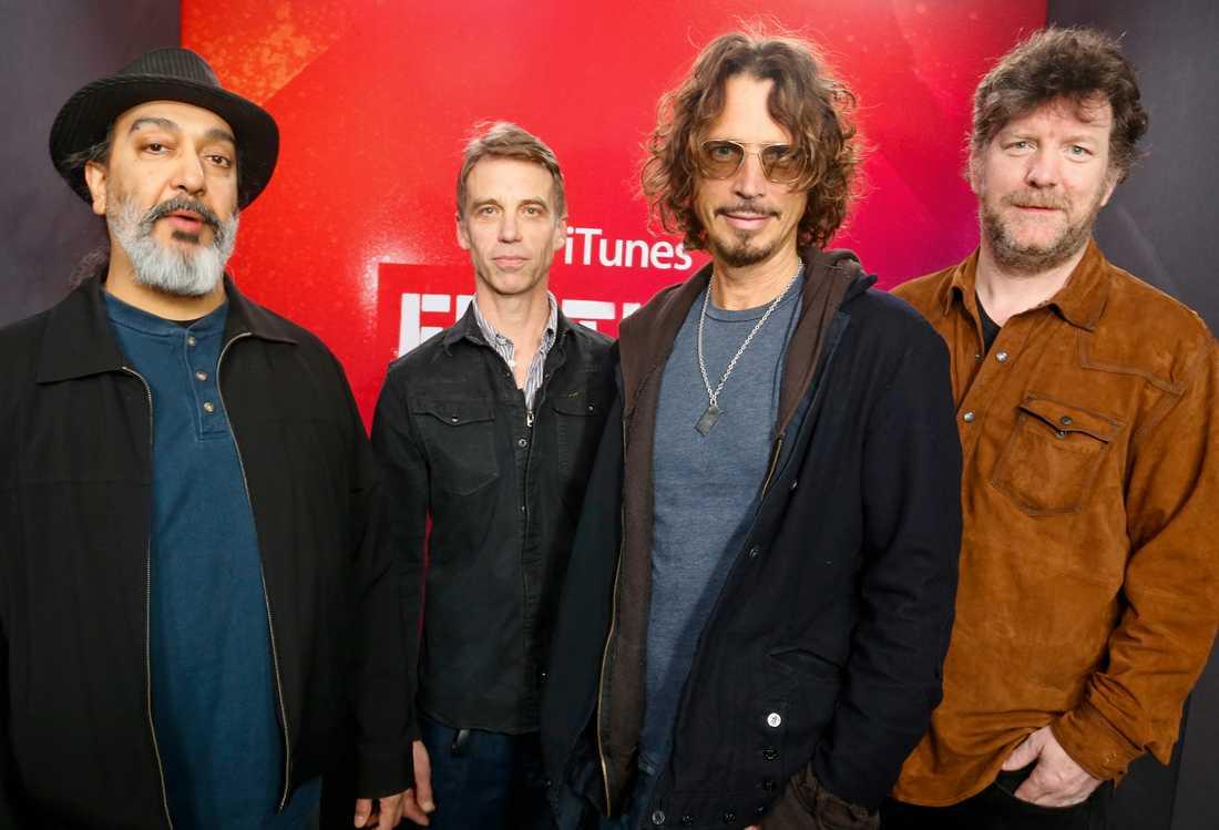 Kim Thayil, Matt Cameron, Chris Cornell och Ben Shepherd i Soundgarden på SXSW 2014.