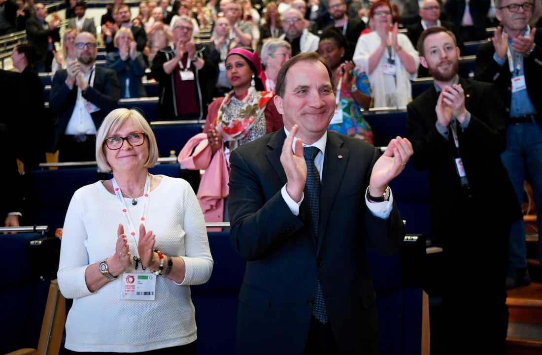 S-kongress i Göteborg.  Stefan Löfven med fru Ulla.
