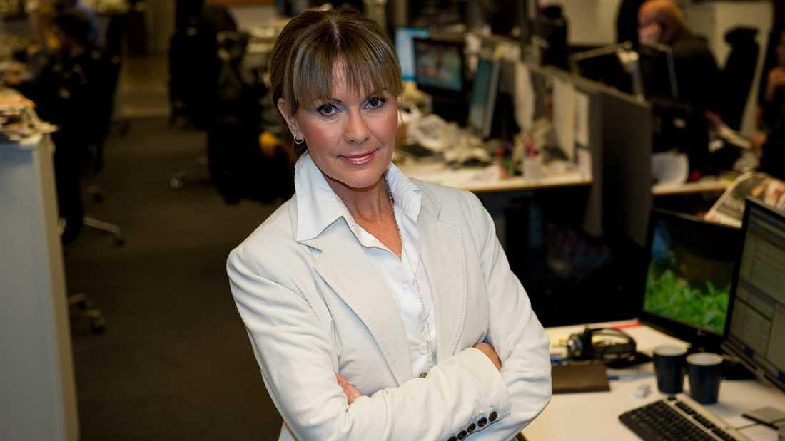TV4:s nyhetsankare Anna Lindmarker.