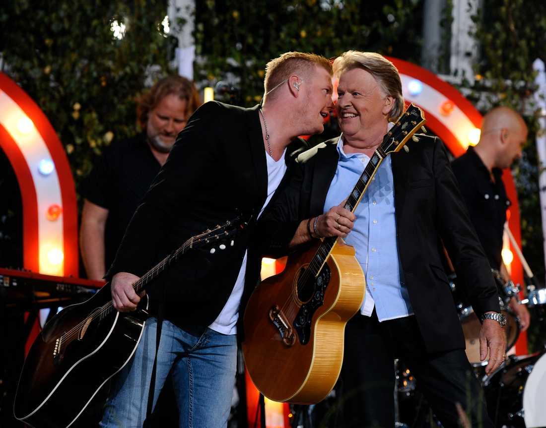 Sven-Erik Magnusson med sonen Oscar Magnusson.