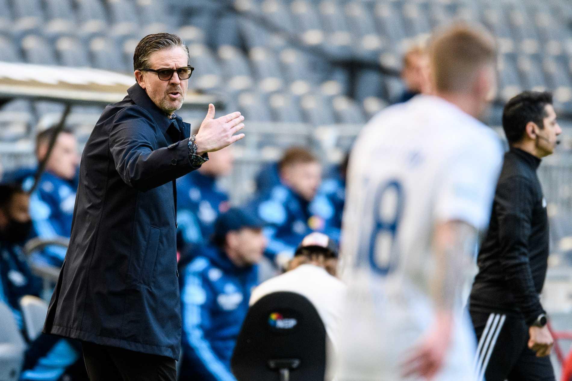 Rikard Norling under matchen mot Djurgården.